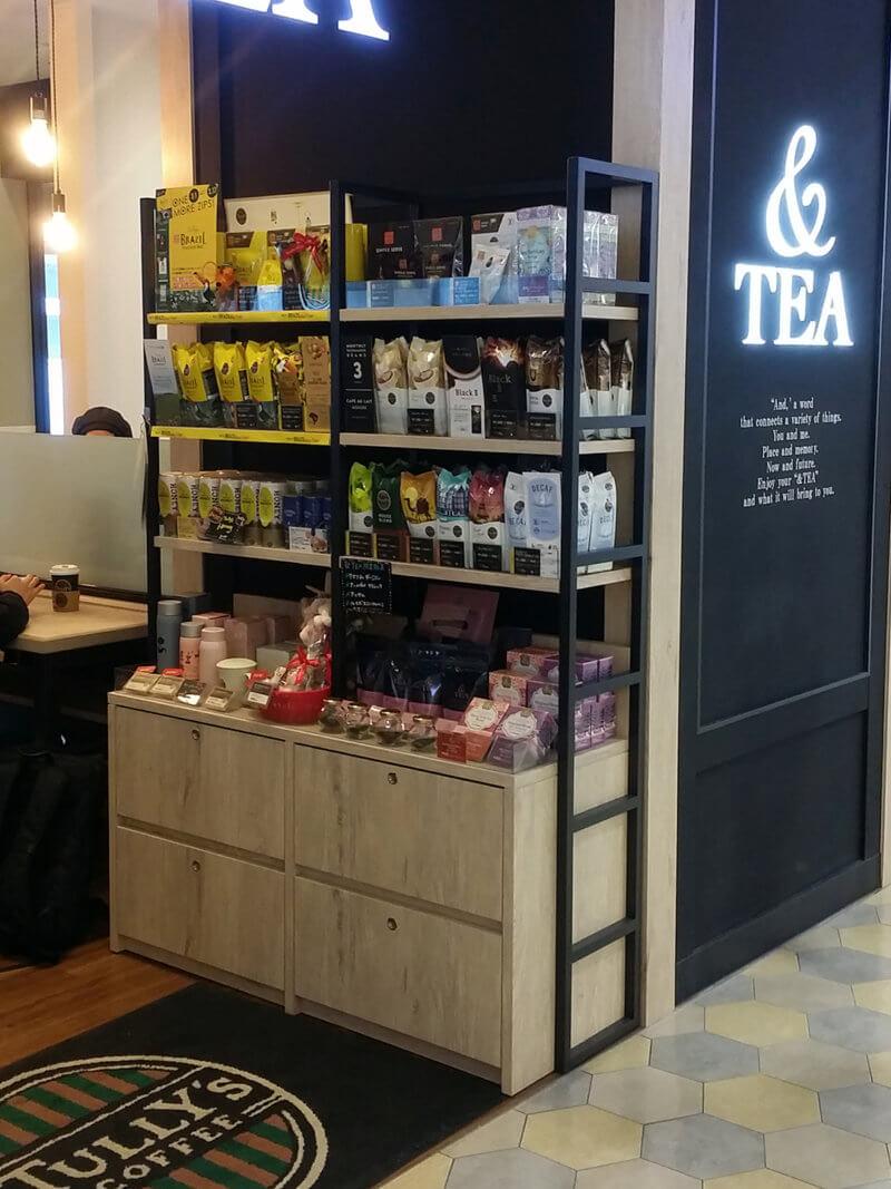 タリーズコーヒー&TEA 博多駅マイング店 物販コーナー