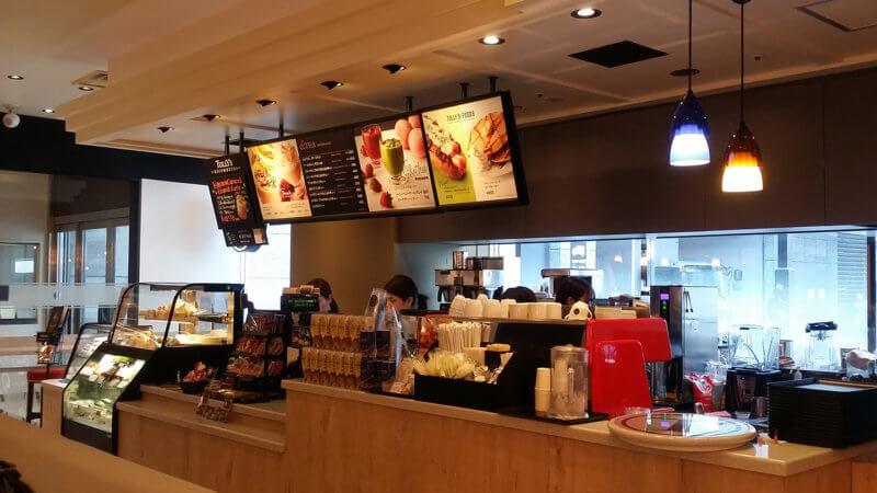 タリーズコーヒー&TEA 博多駅マイング店 カウンター