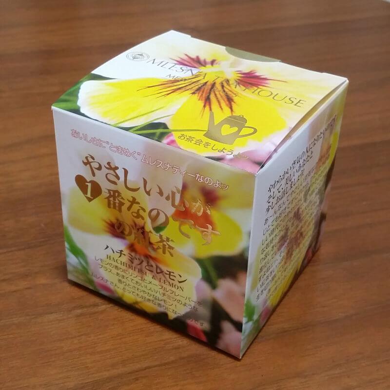ムレスナティーのハチミツとレモン 外箱正面