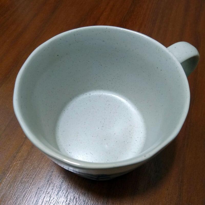 茶渋のとれたマグカップ(グレー)