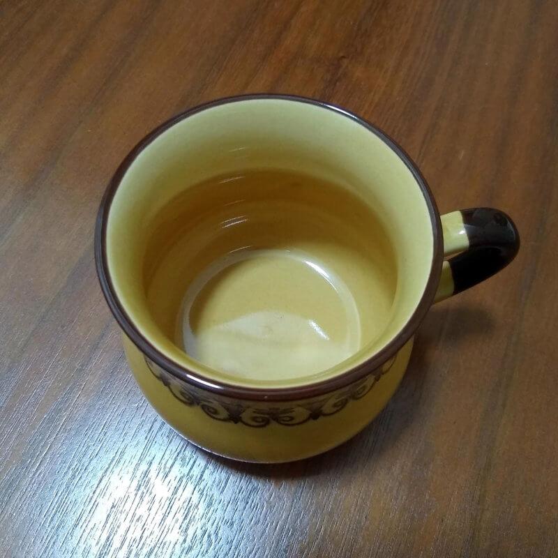 茶渋のとれたマグカップ(黄土)