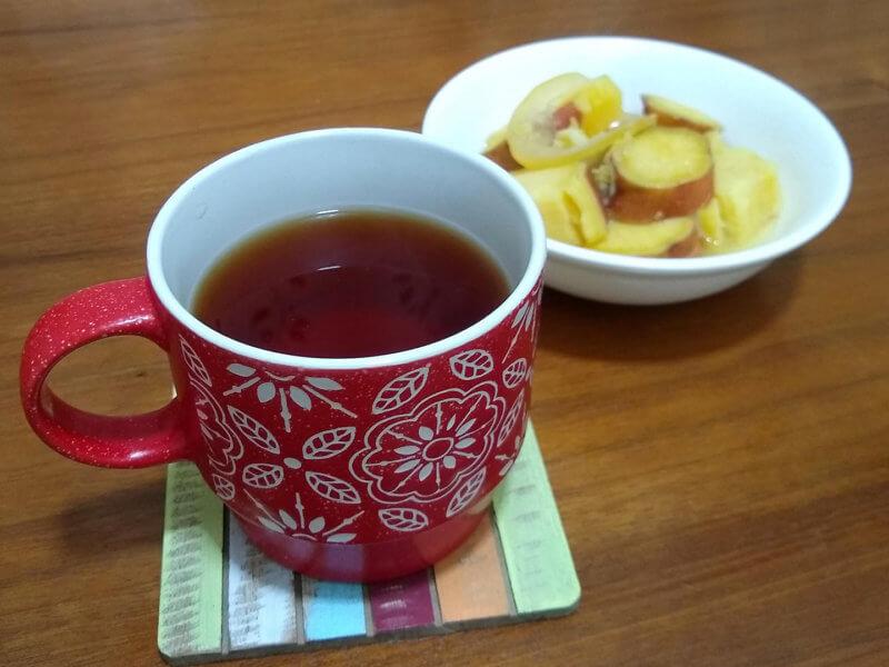 ルピシアの花笠 安納芋のはちみつレモン煮と合わせて