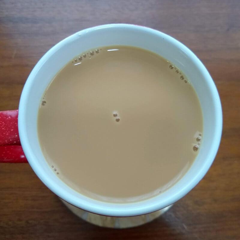 リントンズのトラディショナルカッパス ミルクティー水色