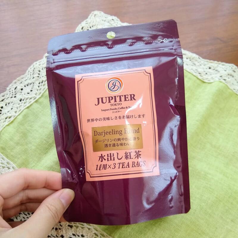 ジュピターの水出し紅茶ダージリンブレンド パッケージ