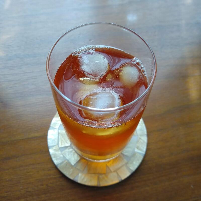 ジュピターの水出し紅茶ダージリンブレンド ストレート上から