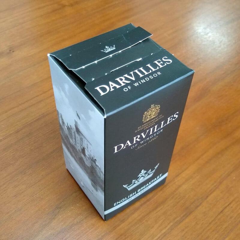 ダーヴィルスオブウィンザーのイングリッシュブレックファスト 外箱