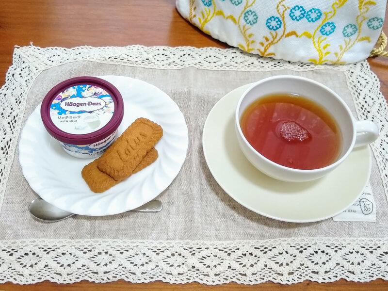 沖縄ティーファクトリーのサンセットヌーボー アイスクリームと合わせて