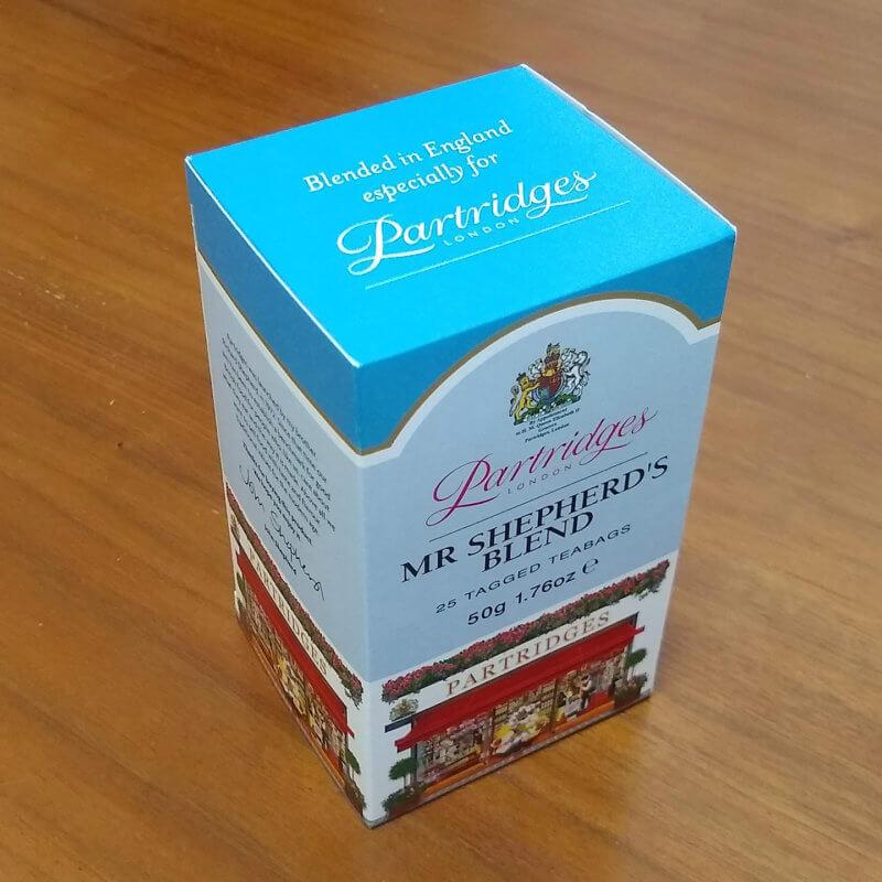パートリッジスのミスターシェパードブレンド 外箱